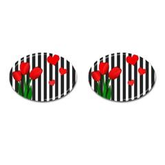Tulips Cufflinks (Oval)