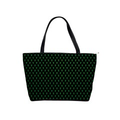 Green Aliens Shoulder Handbags