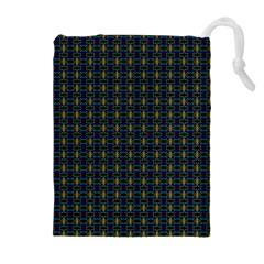 Moroccan Swirls Drawstring Pouches (extra Large)
