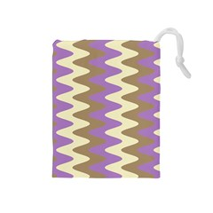Nougat Ripple Drawstring Pouches (medium)