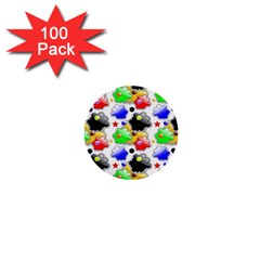 Pattern Background Wallpaper Design 1  Mini Buttons (100 pack)