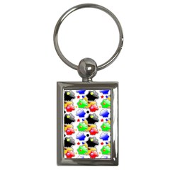 Pattern Background Wallpaper Design Key Chains (rectangle)