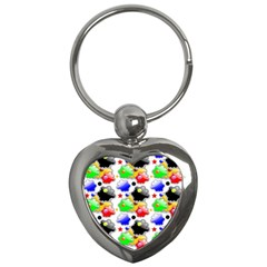 Pattern Background Wallpaper Design Key Chains (Heart)