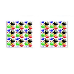 Pattern Background Wallpaper Design Cufflinks (square)
