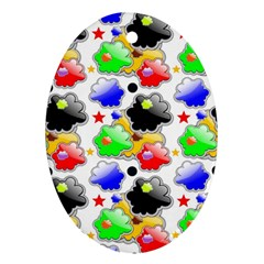 Pattern Background Wallpaper Design Oval Ornament (Two Sides)