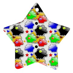 Pattern Background Wallpaper Design Star Ornament (Two Sides)