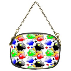 Pattern Background Wallpaper Design Chain Purses (two Sides)