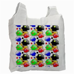Pattern Background Wallpaper Design Recycle Bag (One Side)