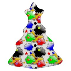 Pattern Background Wallpaper Design Christmas Tree Ornament (Two Sides)