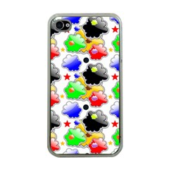 Pattern Background Wallpaper Design Apple iPhone 4 Case (Clear)