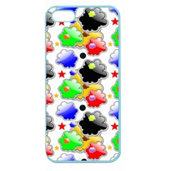 Pattern Background Wallpaper Design Apple Seamless Iphone 5 Case (color)