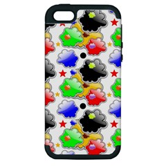 Pattern Background Wallpaper Design Apple iPhone 5 Hardshell Case (PC+Silicone)