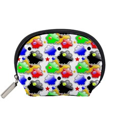 Pattern Background Wallpaper Design Accessory Pouches (Small)