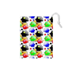 Pattern Background Wallpaper Design Drawstring Pouches (Small)