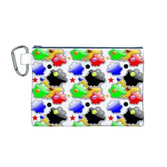 Pattern Background Wallpaper Design Canvas Cosmetic Bag (M)