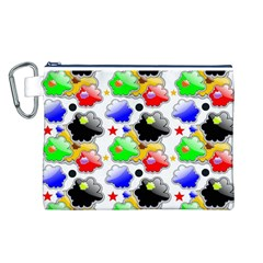 Pattern Background Wallpaper Design Canvas Cosmetic Bag (l)
