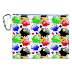 Pattern Background Wallpaper Design Canvas Cosmetic Bag (xxl)