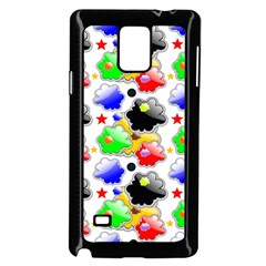 Pattern Background Wallpaper Design Samsung Galaxy Note 4 Case (Black)