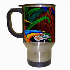 Parrots Aras Lori Parakeet Birds Travel Mugs (White)