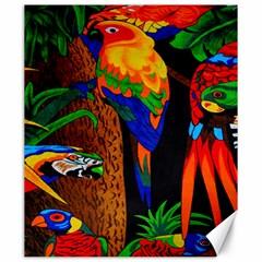 Parrots Aras Lori Parakeet Birds Canvas 20  x 24