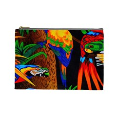 Parrots Aras Lori Parakeet Birds Cosmetic Bag (Large)