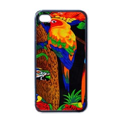 Parrots Aras Lori Parakeet Birds Apple iPhone 4 Case (Black)