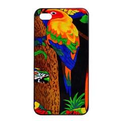 Parrots Aras Lori Parakeet Birds Apple iPhone 4/4s Seamless Case (Black)