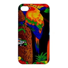 Parrots Aras Lori Parakeet Birds Apple iPhone 4/4S Hardshell Case