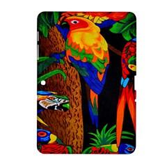 Parrots Aras Lori Parakeet Birds Samsung Galaxy Tab 2 (10 1 ) P5100 Hardshell Case