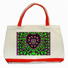 Dots And Very Hearty Classic Tote Bag (red)