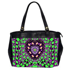 Dots And Very Hearty Office Handbags (2 Sides)