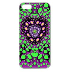 Dots And Very Hearty Apple Seamless Iphone 5 Case (clear)