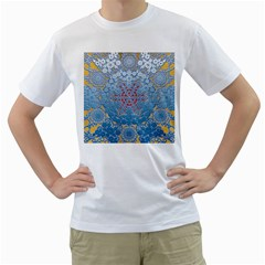 Pattern Background Pattern Tile Men s T Shirt (white) (two Sided)