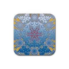 Pattern Background Pattern Tile Rubber Square Coaster (4 pack)