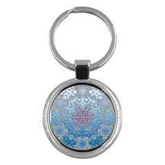 Pattern Background Pattern Tile Key Chains (round)