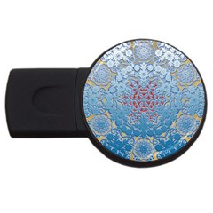 Pattern Background Pattern Tile USB Flash Drive Round (1 GB)