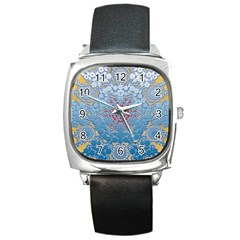 Pattern Background Pattern Tile Square Metal Watch