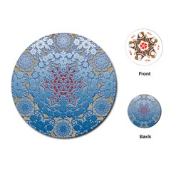 Pattern Background Pattern Tile Playing Cards (round)