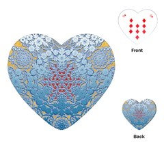 Pattern Background Pattern Tile Playing Cards (heart)