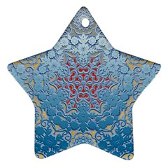 Pattern Background Pattern Tile Star Ornament (Two Sides)