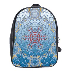Pattern Background Pattern Tile School Bags(Large)