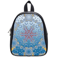 Pattern Background Pattern Tile School Bags (Small)