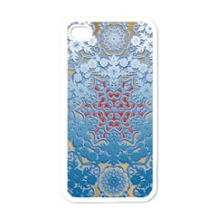 Pattern Background Pattern Tile Apple iPhone 4 Case (White)