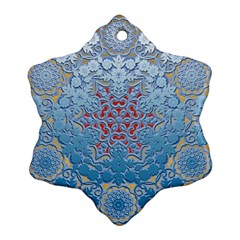 Pattern Background Pattern Tile Snowflake Ornament (Two Sides)