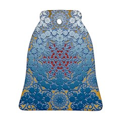 Pattern Background Pattern Tile Bell Ornament (two Sides)