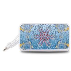 Pattern Background Pattern Tile Portable Speaker (White)