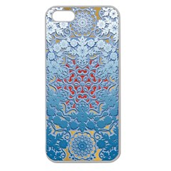 Pattern Background Pattern Tile Apple Seamless iPhone 5 Case (Clear)