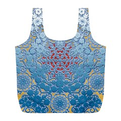 Pattern Background Pattern Tile Full Print Recycle Bags (l)