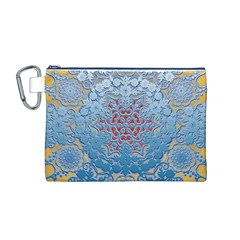 Pattern Background Pattern Tile Canvas Cosmetic Bag (m)