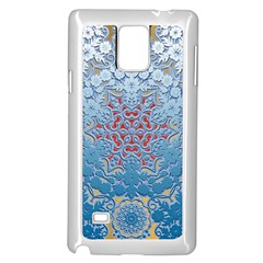Pattern Background Pattern Tile Samsung Galaxy Note 4 Case (White)